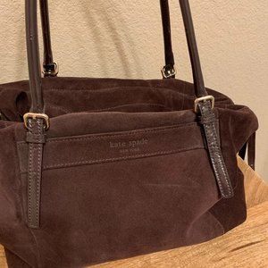 KATE SPADE Chocolate Brown Suede Handbag